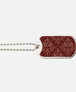 red wallpaper Dog Tags