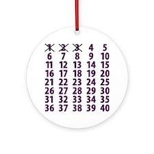 Countdownpurplecross Round Ornament