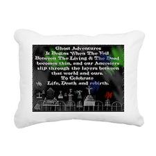 Card Ghost Among Us5 Rectangular Canvas Pillow