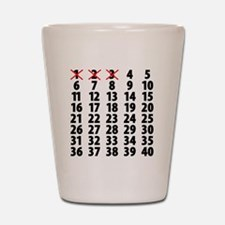 Countdown Shot Glass