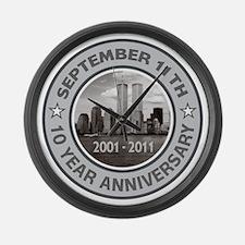 September 11 Anniversary 3 Large Wall Clock