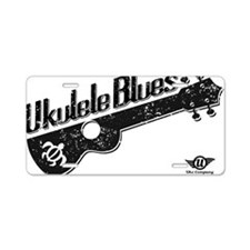 Ukulele Blues Aluminum License Plate
