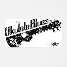Ukulele Blues Aluminum License Plate