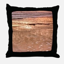 BeachRockForeground Throw Pillow