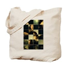 Mona Lisa Puzzle Tote Bag