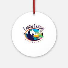Laurel Canyon Logo Round Ornament