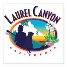 "Laurel Canyon Logo Square Car Magnet 3"" x 3"""