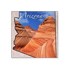 "ArizonaMap28 Square Sticker 3"" x 3"""