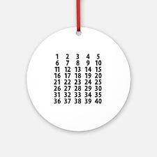 Countdownplain Round Ornament
