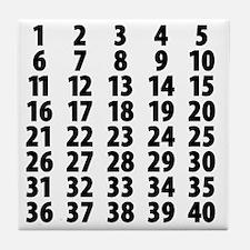 Countdownplain Tile Coaster