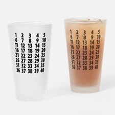 Countdownplain Drinking Glass