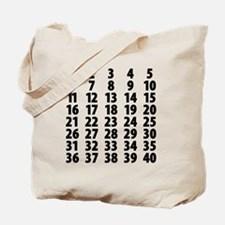 Countdownplain Tote Bag