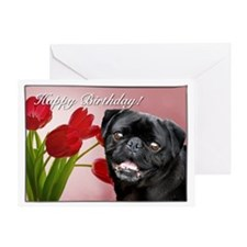 Happy Birthday Pug Dog Greeting Cards