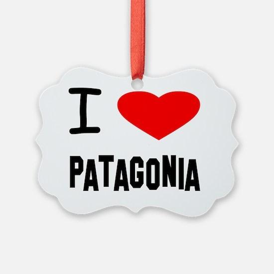 i heart Patagonia plain Ornament