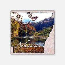 "ArkansasMap28 Square Sticker 3"" x 3"""