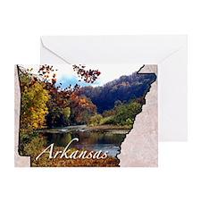 ArkansasMap28 Greeting Card