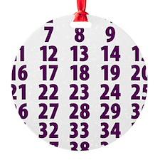 CountdownPurple Ornament