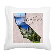 CaliforniaMap28 Square Canvas Pillow