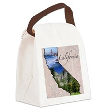 CaliforniaMap28 Canvas Lunch Bag