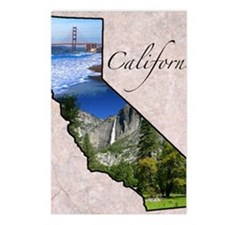 CaliforniaMap28 Postcards (Package of 8)