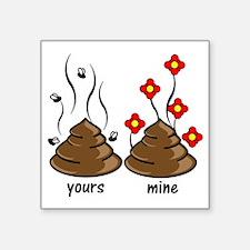 """poo Square Sticker 3"""" x 3"""""""