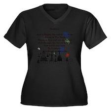 Ghost Among  Women's Plus Size Dark V-Neck T-Shirt