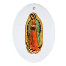 Mary - Virgin of Guadalupe Oval Ornament
