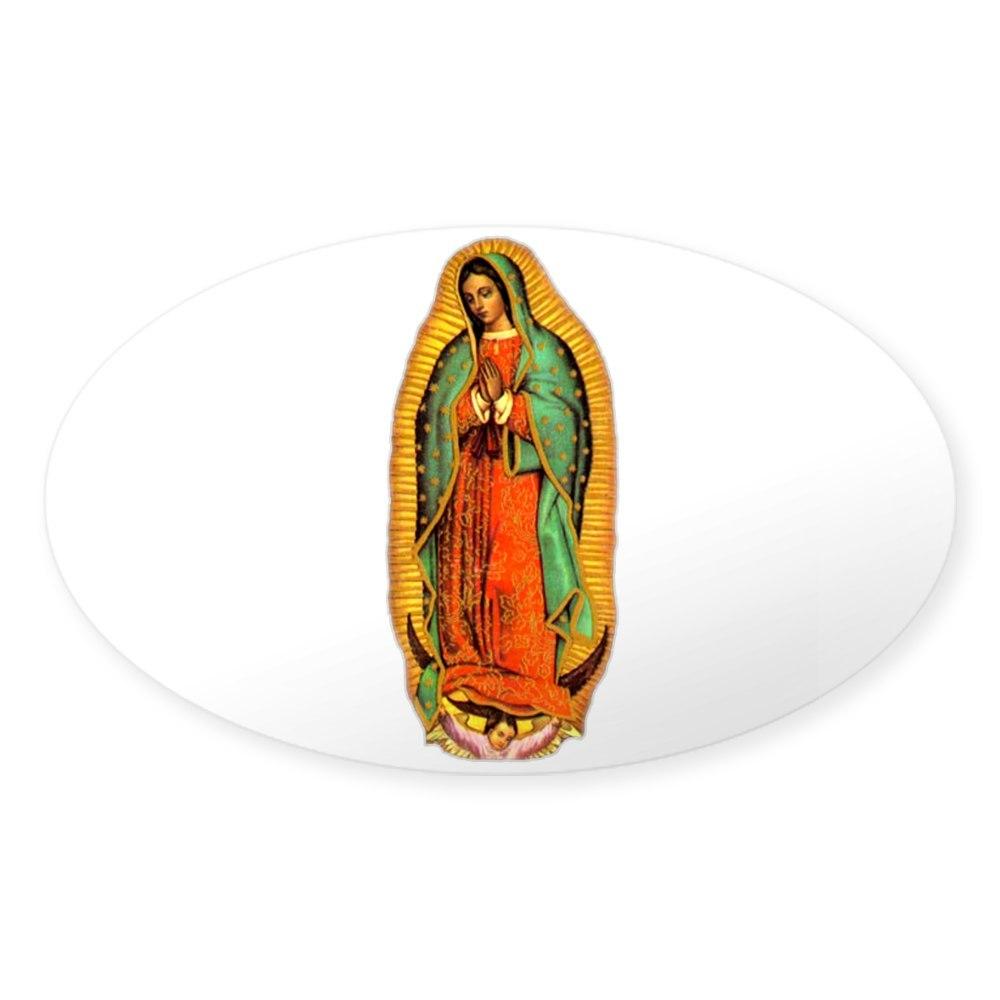 107045951 Oval CafePress Mary Virgin Of Guadalupe Oval Sticker Sticker