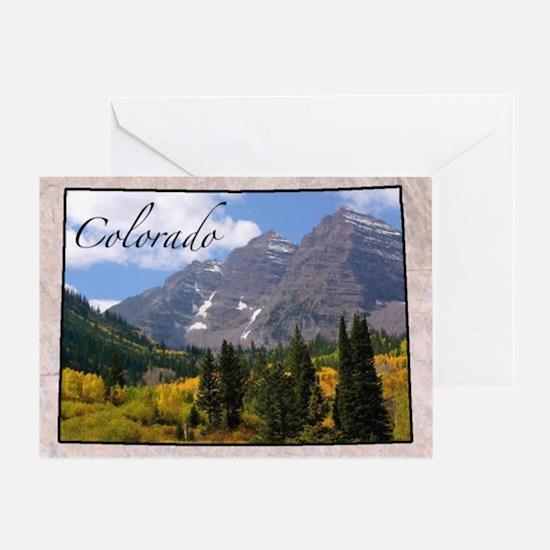 ColoradoMap28 Greeting Card