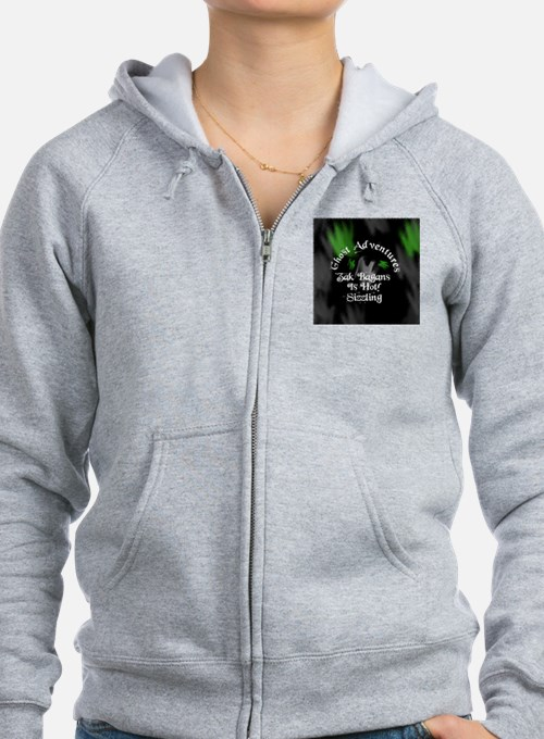 Ghost Adventures Round sticker Zip Hoodie