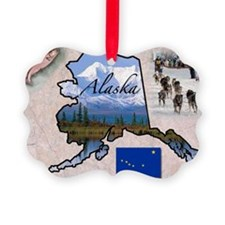 AlaskaMap28 Ornament