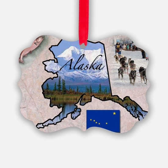 AlaskaMap28 Ornament