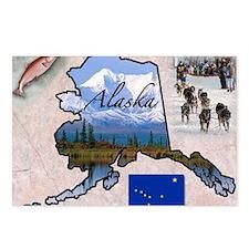 AlaskaMap28 Postcards (Package of 8)