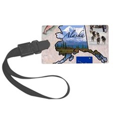 AlaskaMap28 Luggage Tag