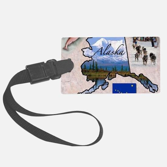 AlaskaMap28 Luggage Tag