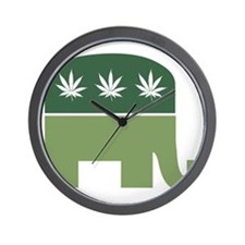 Green Republican Wall Clock