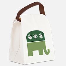 Green Republican Canvas Lunch Bag