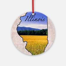 Illinois Round Ornament