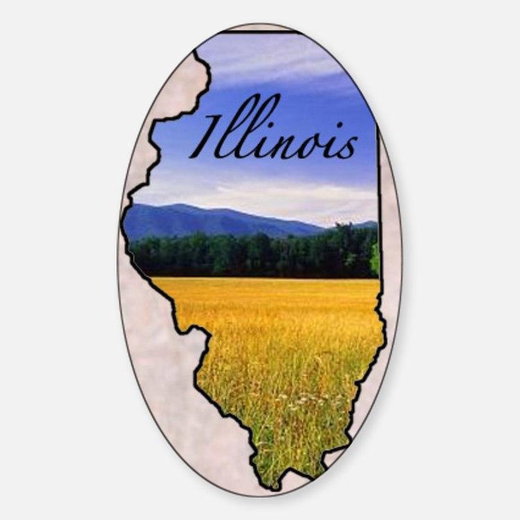 Illinois Sticker (Oval)