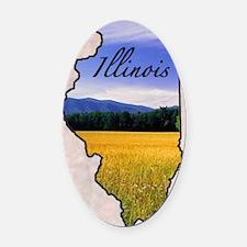 Illinois Oval Car Magnet