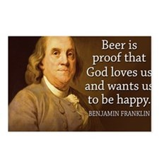 Ben Franklin quote on bee Postcards (Package of 8)