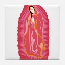 Our Lady of Guadalupe - Rose Tile Coaster