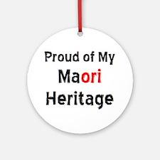 maori heritage Round Ornament