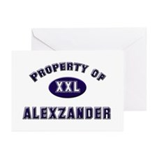 Property of alexzander Greeting Cards (Package of