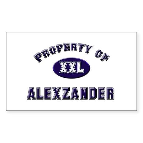 Property of alexzander Rectangle Sticker