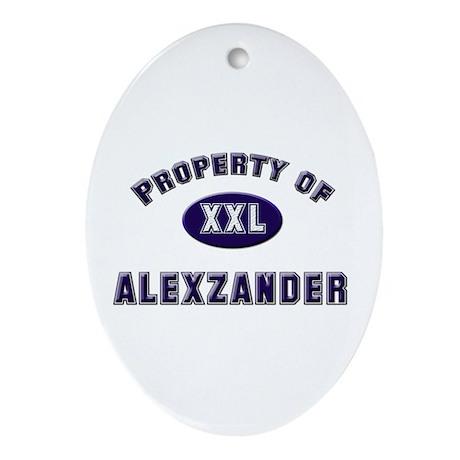 Property of alexzander Oval Ornament