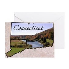 ConnecticutMap28 Greeting Card