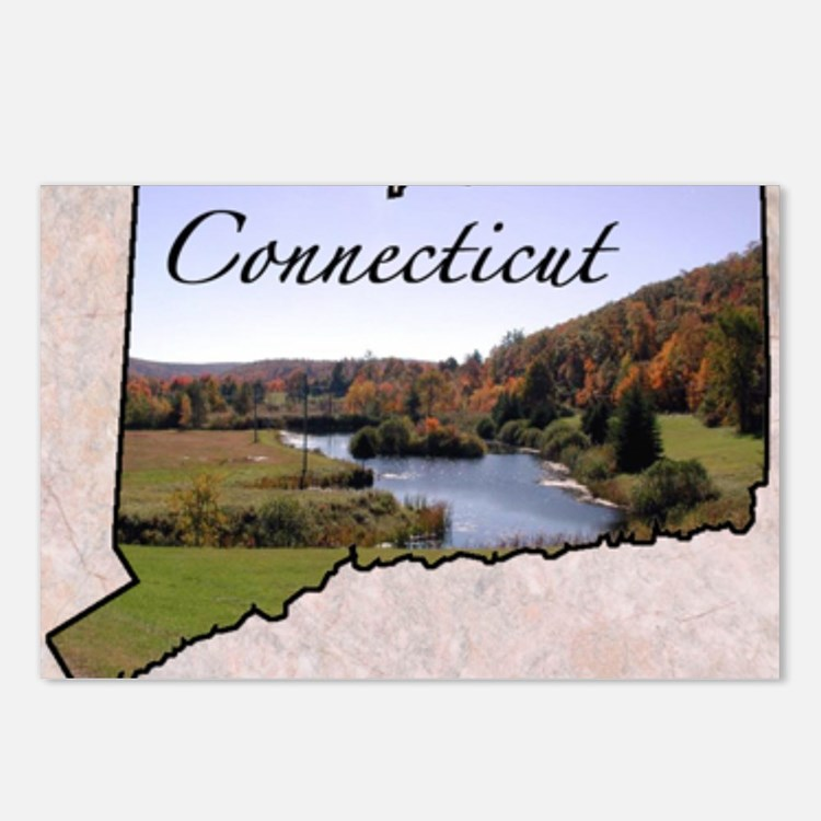 ConnecticutMap28 Postcards (Package of 8)