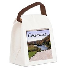 ConnecticutMap28 Canvas Lunch Bag