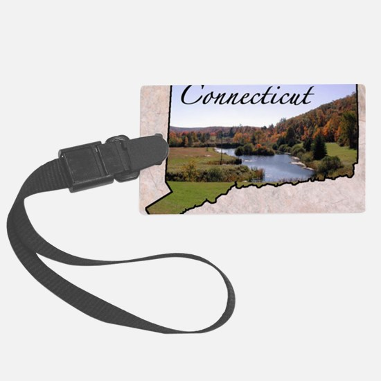 ConnecticutMap28 Luggage Tag